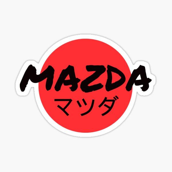 Mazda japonés マ ツ ダ sol rojo Pegatina