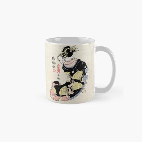 """Felt Cute Might Delete Later"" - Kawaii Geisha Arte Tradicional Taza clásica"