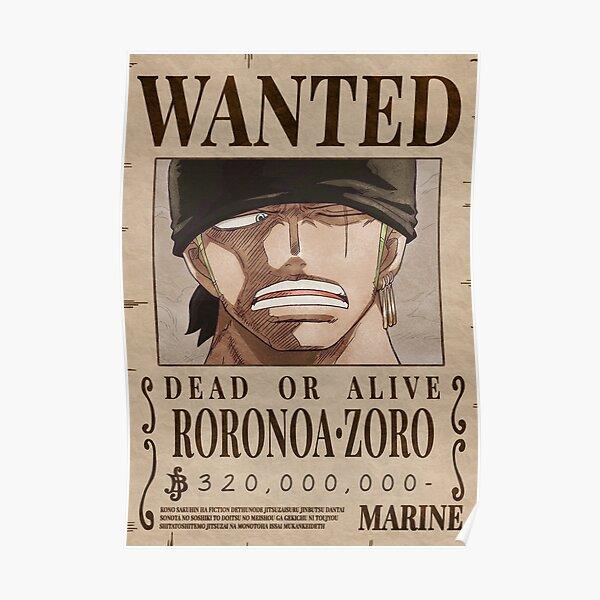 Rorona Zoro Wanted Bounty Poster Poster