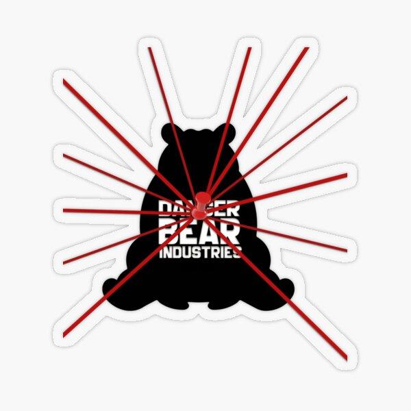 Conspiracy Bear from Danger Bear Industries Transparent Sticker