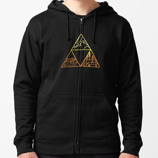 Legend of Zelda Triforce Veste zippée à capuche