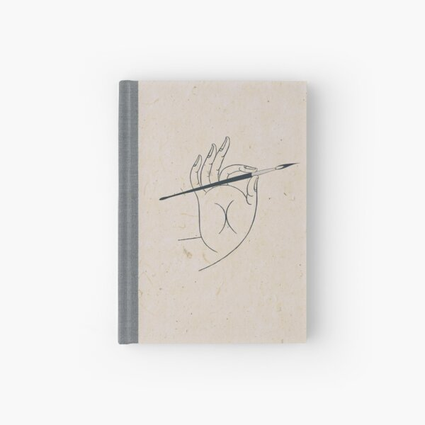 Hand with Brush Hardcover Journal