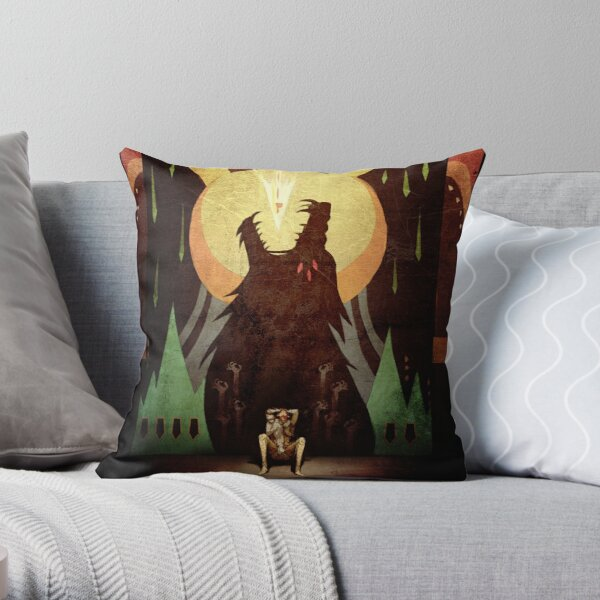 Slow Arrow Throw Pillow