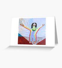 SpiritFlowers Series: Approaching Gifting Exchange Greeting Card