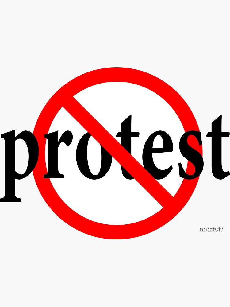 Don't Protest - Declare you beliefs publicly - Don't go along by notstuff