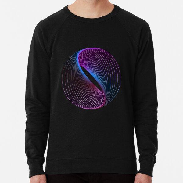 Neon Spiral Marble Lightweight Sweatshirt