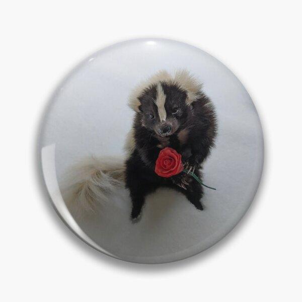 Rose Skunk Pin