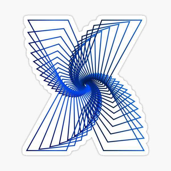 X Line Art Sticker