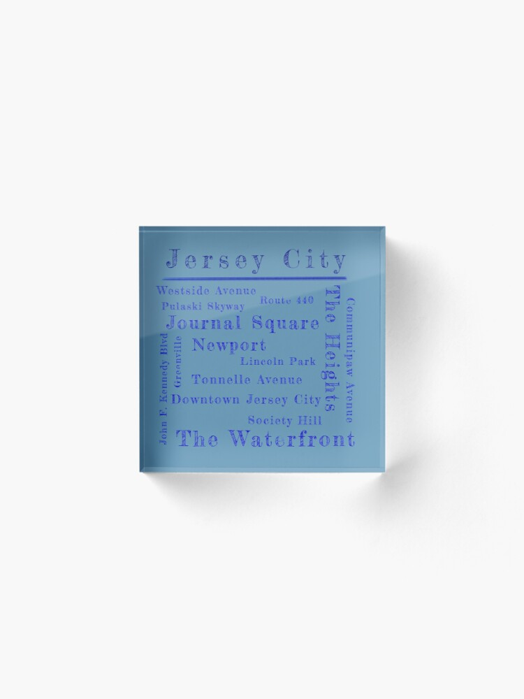 Alternate view of Jersey City Proud Acrylic Block