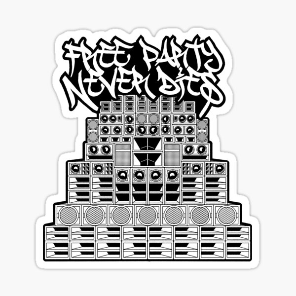 Free Party Never Dies Sticker