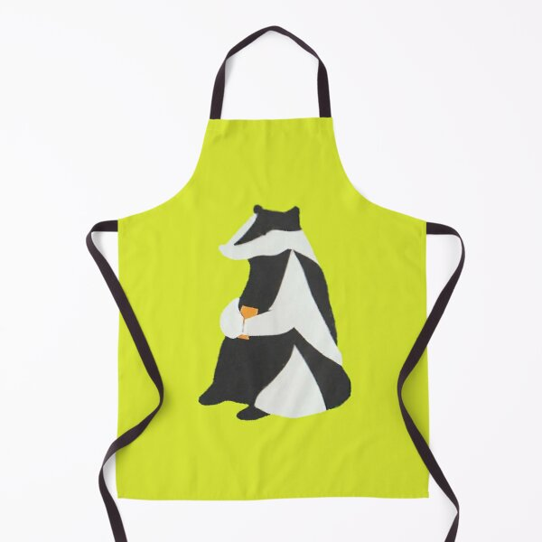 Badger with Cup Apron