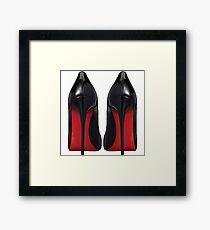Red Sole Heels - Designer/Fashion/Trendy/Hipster Meme Framed Print