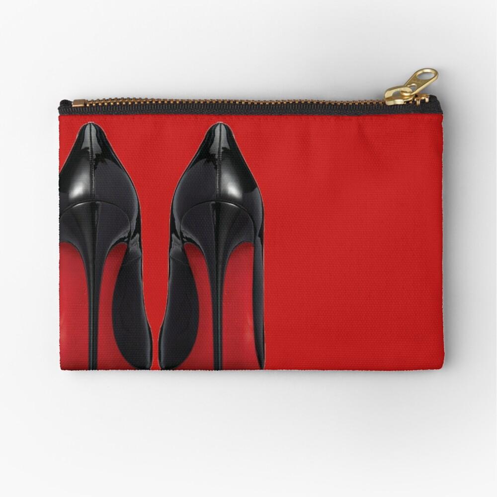Red Sole Heels - Designer/Fashion/Trendy/Hipster Meme Zipper Pouch