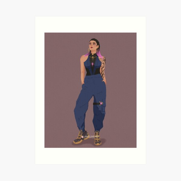 Reyna Streetwear Art Print