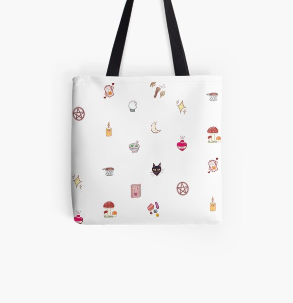 Witchcraft Artefacts Apothecary Sheet All Over Print Tote Bag