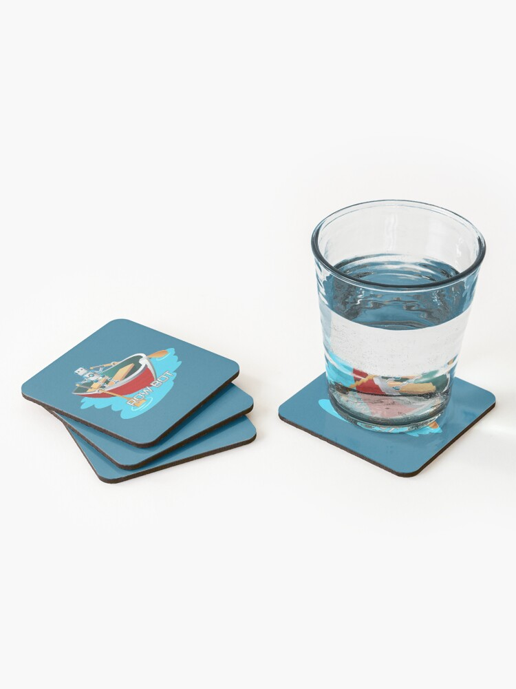 Alternate view of Row Bot. Coasters (Set of 4)