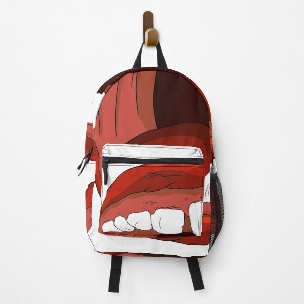 Open mouth with distorted teeth Backpack