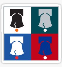 Philly Phour Bells - Liberty Bells for your Favorite Philadelphia Teams! Sticker