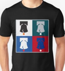 Philly Phour Bells - Liberty Bells for your Favorite Philadelphia Teams! Slim Fit T-Shirt