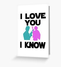 Star Wars Han Solo and Princess Leia 'I love You, I Know' design Greeting Card