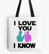 Star Wars Han Solo and Princess Leia 'I love You, I Know' design Tote Bag