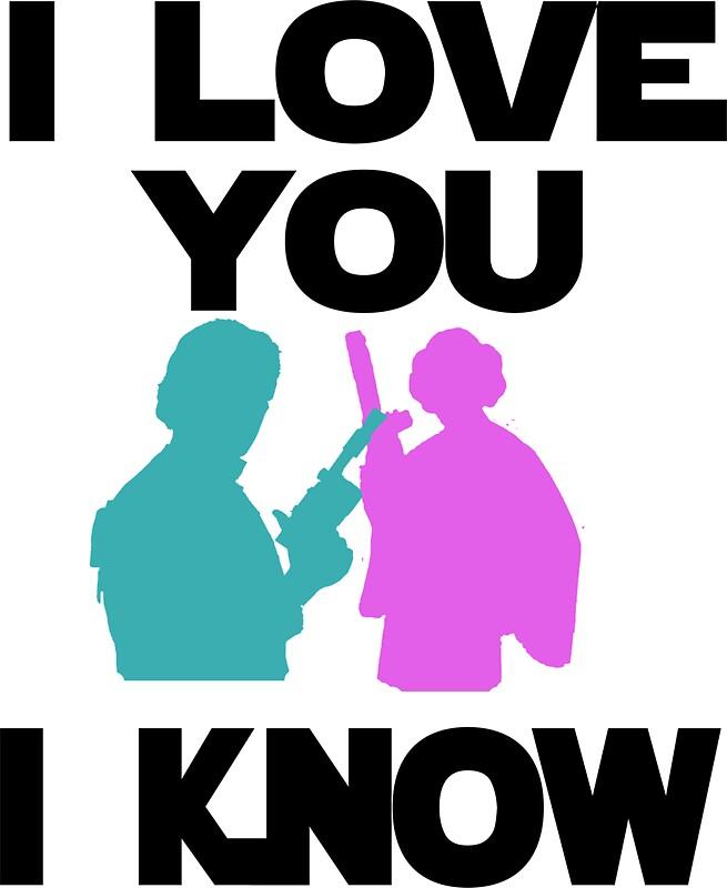 Han Individual Princess Leia I Love You