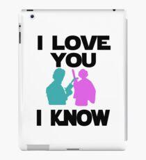 Star Wars Han Solo and Princess Leia 'I love You, I Know' design iPad Case/Skin