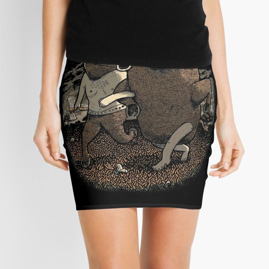 Minotaur Loves Man-Bull Mini Skirt