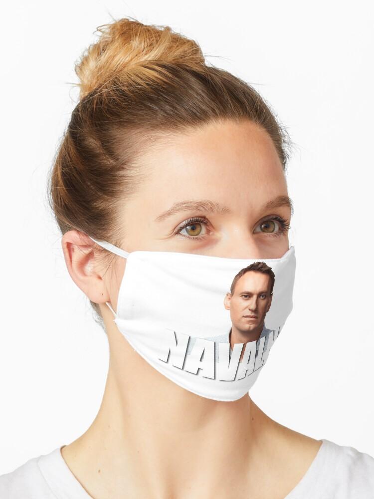 Alexei Navalny Russian Politician Mask By Quackynaut Redbubble