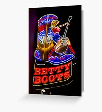 Betty Boots Greeting Card