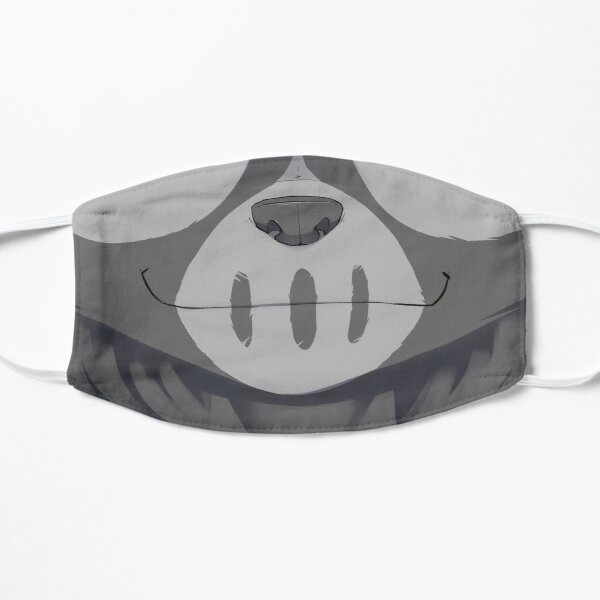 Grey smile Flat Mask