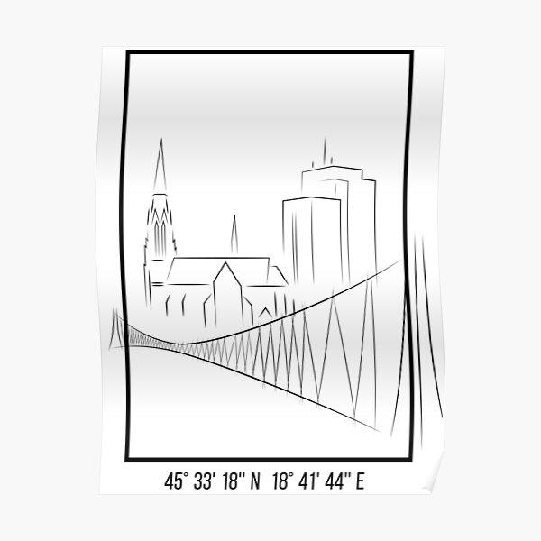 SIMPLE CITY DRAWING | OSIJEK, CROATIA Poster