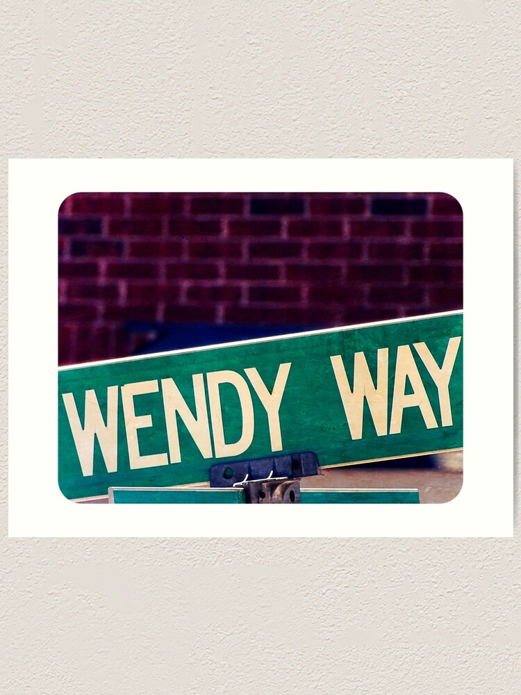 Alternate view of Wendy, Wendy sticker, Wendy mug  Art Print