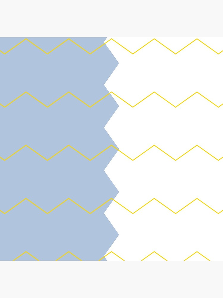 Zigzag split blue white and yellow by QuirkyClock