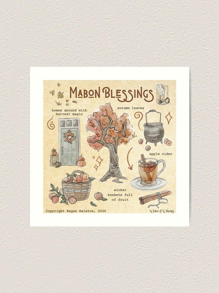 Alternate view of Mabon Blessings Illustration in Watercolor Art Print