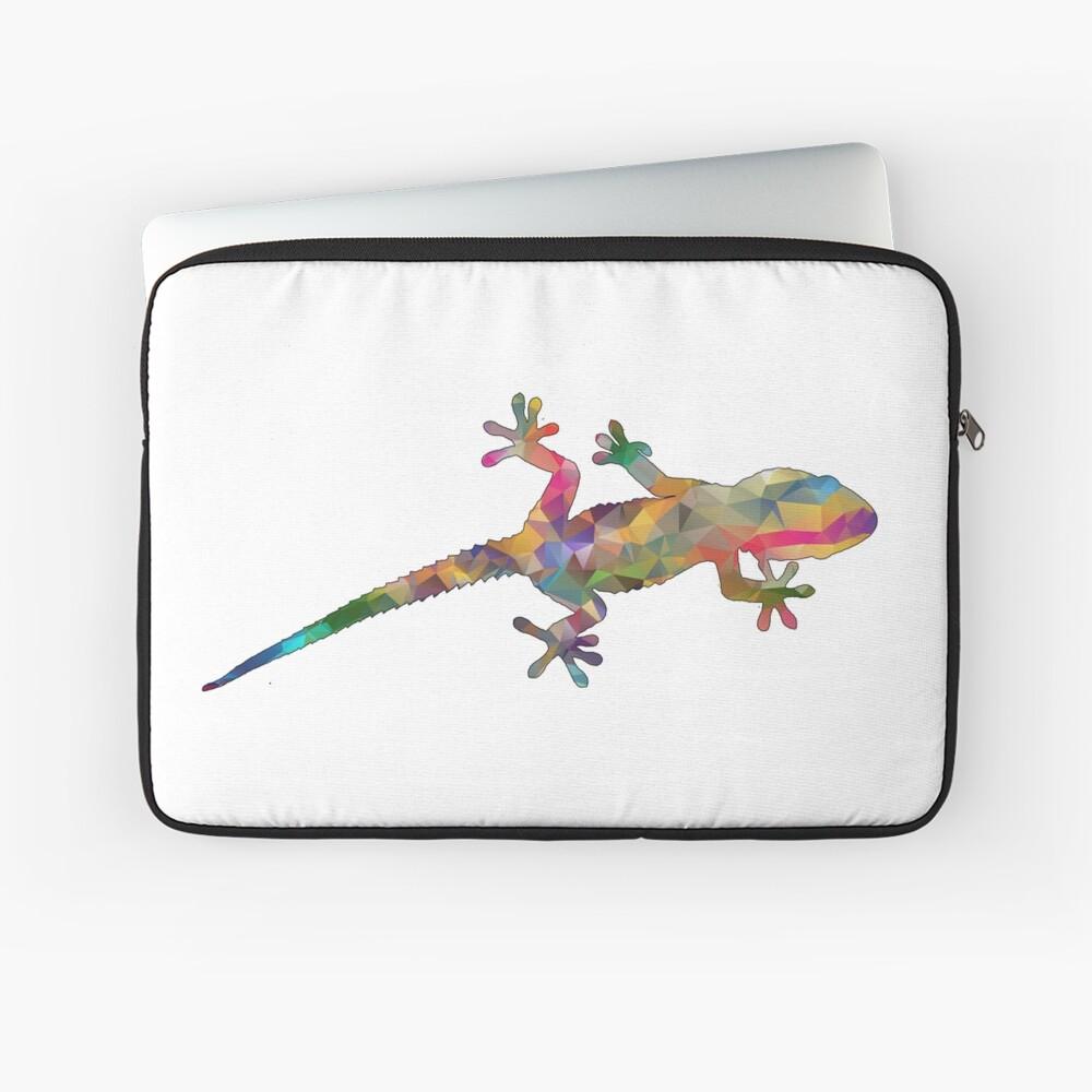 Colourful Gecko Print Laptop Sleeve
