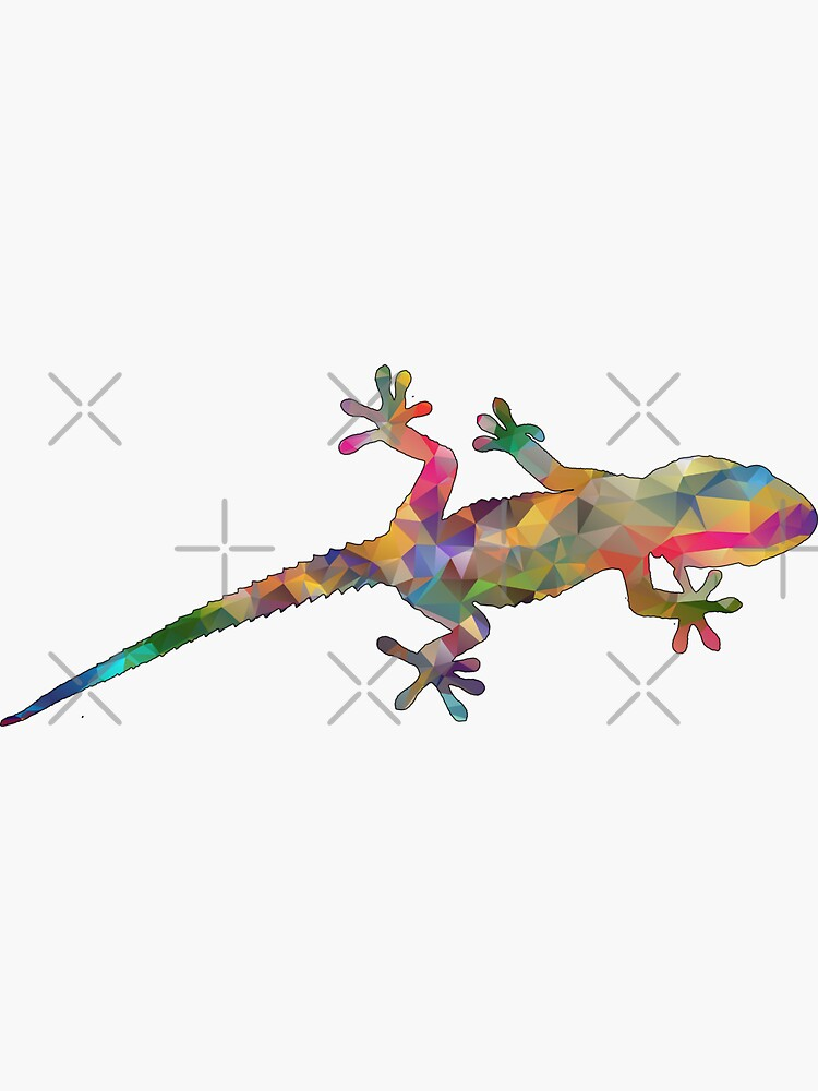 Colourful Gecko Print by snibbo71