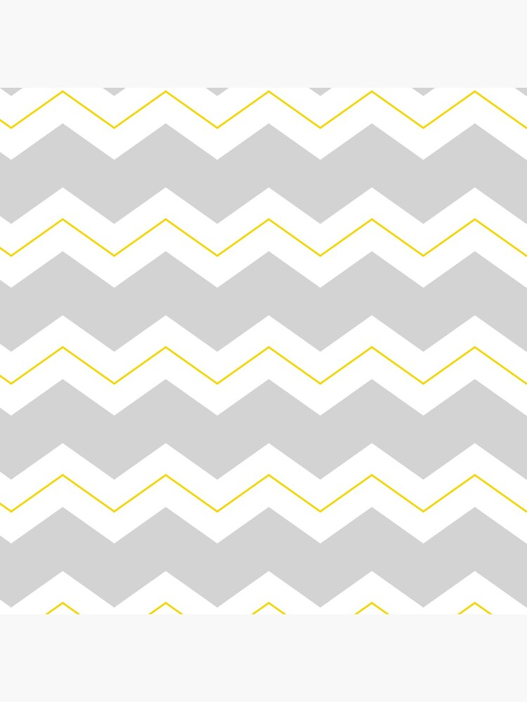 Chunky zigzags grey white and yellow by QuirkyClock