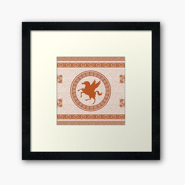 Pegasus Pattern V2 Framed Art Print