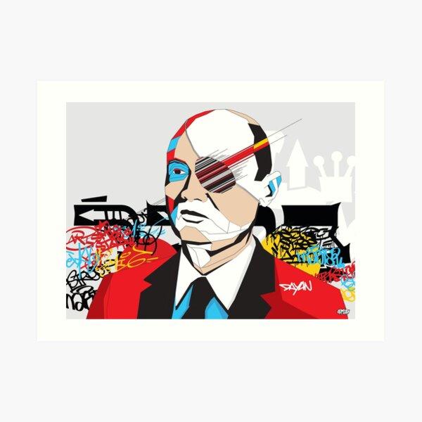 Moshe Dayan - Pop Art Israeli leader gift Art Print