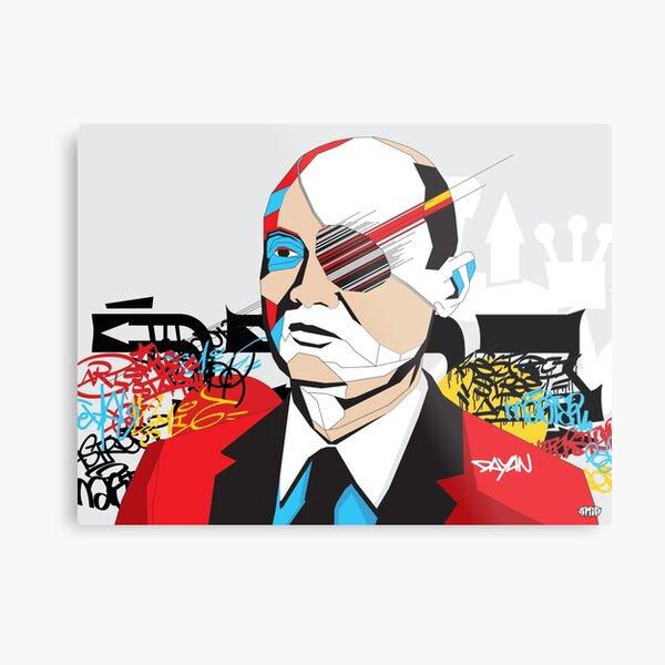 Moshe Dayan - Pop Art Israeli leader gift Metal Print