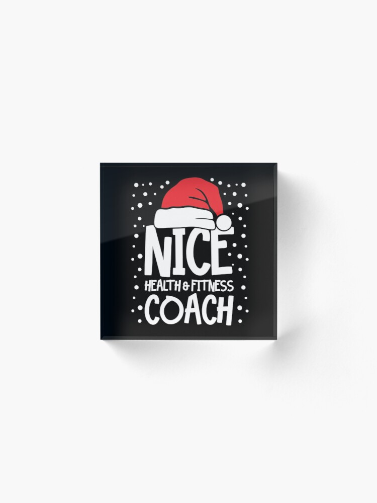Alternate view of Nice Fitness Coach - Personal Trainer Christmas Gift Acrylic Block