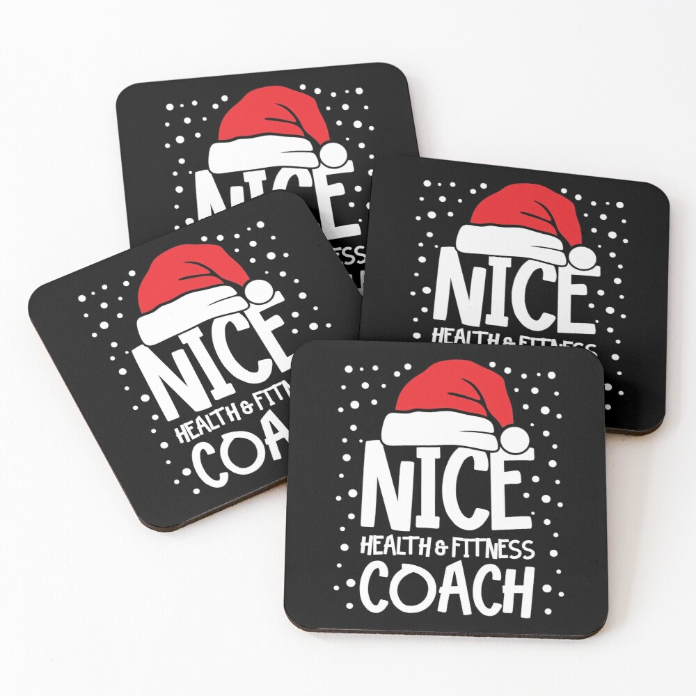 Nice Fitness Coach - Personal Trainer Christmas Gift Coasters (Set of 4)