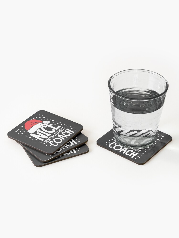 Alternate view of Nice Fitness Coach - Personal Trainer Christmas Gift Coasters (Set of 4)