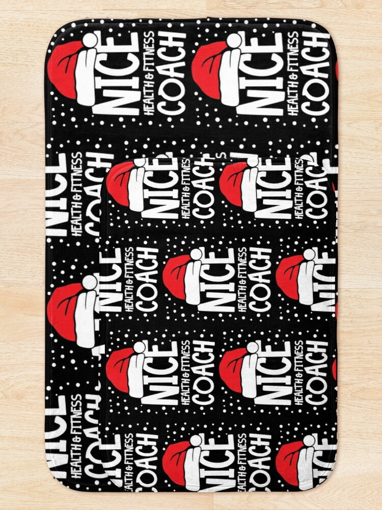 Alternate view of Nice Fitness Coach - Personal Trainer Christmas Gift Bath Mat