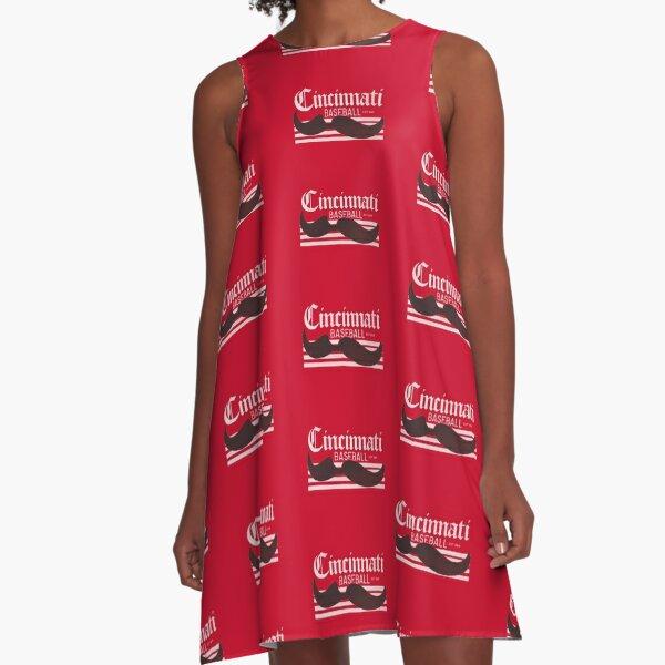 Cincinnati Baseball - Vintage A-Line Dress