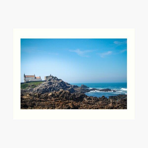 Sunny shiny Portugal - Boa Nova chapel in Leca da Palmeira Art Print
