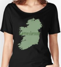 Letterkenny Ireland with Map of Ireland Women's Relaxed Fit T-Shirt