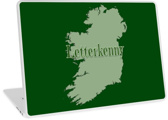Letterkenny Ireland Map.Letterkenny Ireland With Map Of Ireland Laptop Skins By Greenbaby