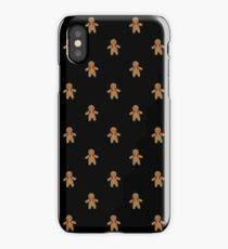 Gingerbread Pattern-Black iPhone Case